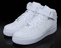 Найки аир форсы Nike air force бел. высокие унисекс