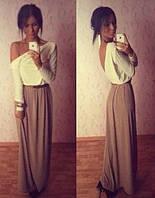 Стильное платье длинное Бисквит Ян   $