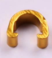 Клипсы C-Clip, алюминий, для гидролиний, рубашек, желтый, золото