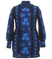 Праздничное и неповторимое вышитое платье из льна для женщины