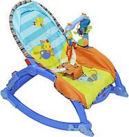 Качалка-шезлонг для новорожденных Play Smart  7179