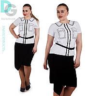 Блузка женская больших размеров 644 гл $