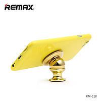 Холдер Remax RM-C18 Gold (Magnetic на приборную панель)