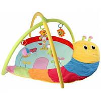 Мягкий коврик для новорожденных Улитка с погремушками