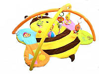 Мягкий коврик для новорожденных Пчелка с погремушками