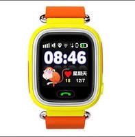 Сенсорные детские умные часы оригинал с GPS Smart Baby Watch Q100 настройка и сим-карта в подарок