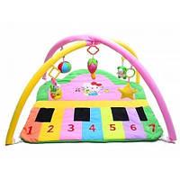 Мягкий коврик для новорожденных Пианино с погремушками
