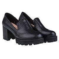 Туфли женские Summergirl (черные, на широком каблуке и платформе, стильные, практичные)