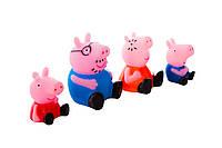 Свинка Пеппа и её семья резиновые (Peppa Pig) 4 шт