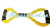 Тренажер эспандер-восьмерка (эспандер бабочка) для фитнеса: тканевая обшивка