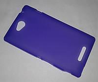 Чехол-накладка силиконовая Sony Xperia C (C2305/S39h) Violet