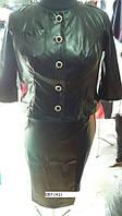 Пиджак женский кожаный большие размеры 067 (41)