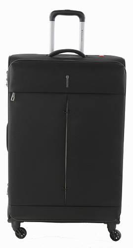 Вместительный 4-колесный тканевый чемодан-гигант 103/113 л. Roncato IRONIC 5121/01 черный