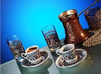 Набор чашек для кофе фарфоровый на 2 персоны