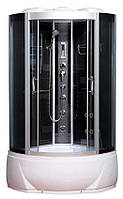 Гидробокс SAN B978 (90*90*215) поддон 30/45см черный кирпич сатин/серое
