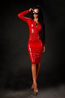 Женский костюм из эко-кожи