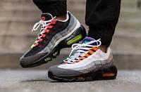 Мужские стильные кроссовки Nike Air Max 95 Grey-Orange Greedy