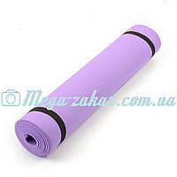 Коврик для фитнеса/ йога мат детский (детский гимнастический коврик): 150х50см, толщина 6мм