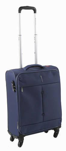 Современный надежный 4-колесный малый чемодан 40/46 л. Roncato IRONIC 5123/23 т. синий