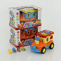 Музыкальный сортер Машинка 2205 А, 4 фигурки, подвижные элементы, светозвуковые эффекты, 3 расцветки