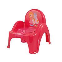 Детский горшок - кресло Little Princess LP-007 Tega Baby, малиновый
