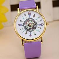 Женские часы с необычным дизайном (Сирень)