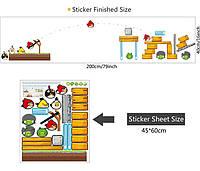 Наклейка виниловая Angry birds 3D декор