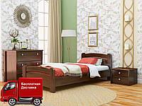 Кровать односпальная Венеция из натурального дерева