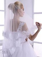 Свадебная кружевная фата с мягкого шантилье № 2