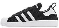 Мужские кроссовки Adidas Superstar 80s (Адидас Суперстар) черные