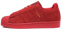 Мужские кроссовки Adidas Superstar 80s London (Адидас Суперстар) красные