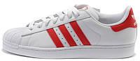 Мужские кроссовки Adidas Superstar (Адидас Суперстар) белые