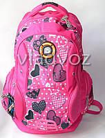 Рюкзак для девочки подростка DFW розовый сердца