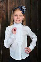Нарядная школьная блуза для маленькой ученицы