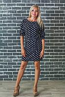 Платье женское летнее темно-синее, фото 1