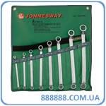 Набор ключей накидных 75-гр 6-22 мм 8 предметов W23108S Jonnesway