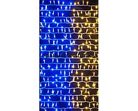 """Светодиодная гирлянда """"Водопад"""" 320 BY в виде флага Украины, гирлянда желто-голубого цвета"""