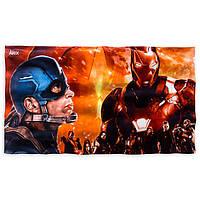 Большое пляжное полотенце Captain America