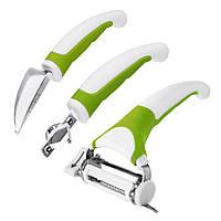 Кухонный нож Triple Slicer 3 в 1 для нарезки овощей и фруктов (3 насадки)