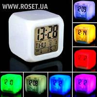 Настольные Часы-Будильник 7 LED Color Changing Alarm Clock