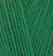 Турецкая пряжа Alize Lanagold полушерсть темно зеленый №118