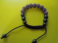 Браслет Шамбала цвет фиолетовый