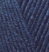 Турецкая пряжа Alize Lanagold полушерсть тёмно синий №58