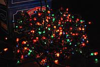 Гирлянда новогодняя на 300 ламп мульти + Елочки