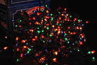 Гирлянда новогодняя на 200 ламп мульти цвет, 2шт