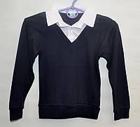Рубашка-обманка для школы мальчику 6-12 лет ATABAY джемпер белая