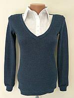 """Кофта блузка """"Обманка"""" - синий"""