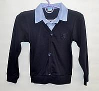 Рубашка-обманка для школы мальчику 6-12 лет ATABAY SCHOOL голубая