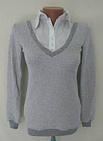 "Кофта блузка ""Обманка"" - серый"