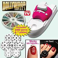 Набор машинка принтер штамп для дизайна ногтей стемпинга Голливудские ногти Hollywood Nails